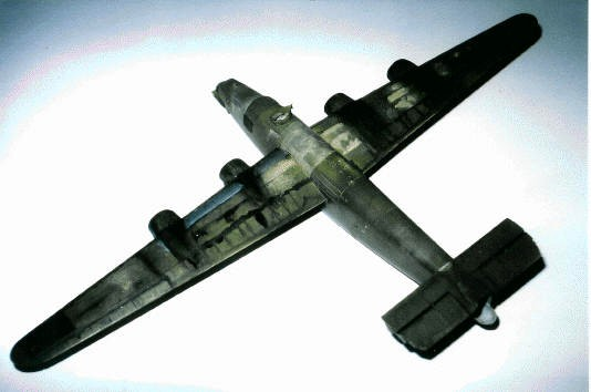 stained B-24 model